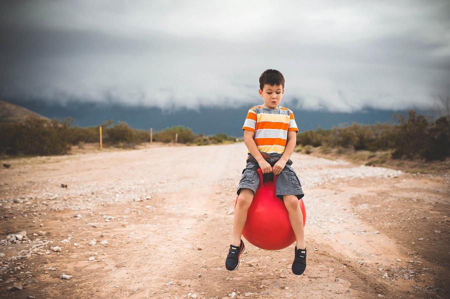 Boy On Ball