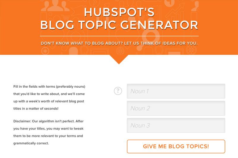 HubSpot Topic Generation Tools